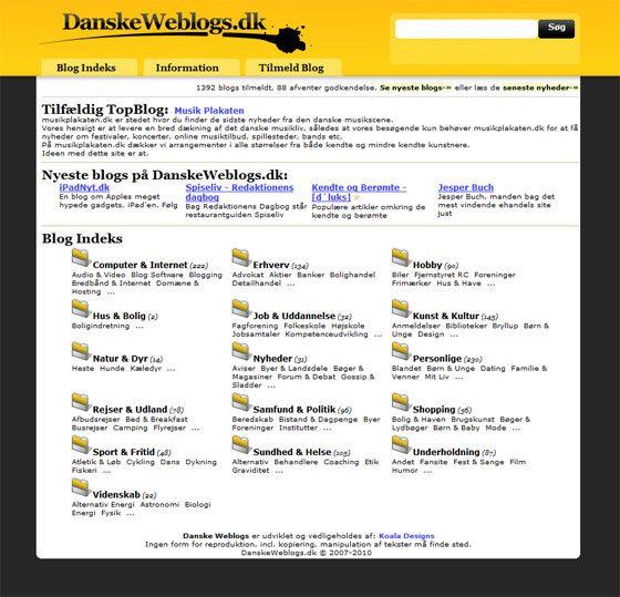 danske weblogs