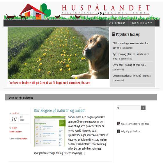 Livet på landet - hus og have